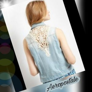Aeropostale Denim vest/ jacket
